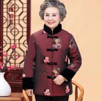 奶奶装冬装棉衣套装加绒中老年人女装厚60-70-80岁老人妈妈装