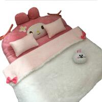 6分过家家玩具床芭可儿比娃娃床家具娃屋配件30cm叶罗丽小布床品 整体总长:40cm*35cm