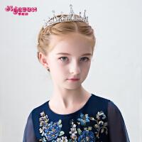 儿童皇冠发饰宝宝饰品公主发夹发箍女孩头箍演出配饰女童头饰王冠