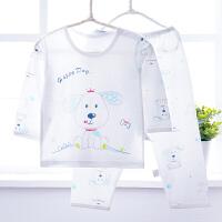 儿童睡衣服夏季婴儿竹衣套装男孩女童夏装宝宝空调服款 俏皮小狗蓝色(竹纤维) 160cm