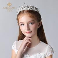 皇冠头饰公主儿童王冠水晶发饰生日发箍演出饰品女孩