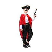 万圣节儿童服装男童王子衣服国王装扮加勒比海盗船长角色扮演服装