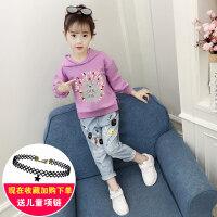女童春装套装2019新款儿童网红洋气时髦两件套大童装时尚韩版潮衣