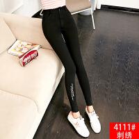 打底裤女外穿薄款2018秋季新款韩版高腰显瘦黑色小脚铅笔长裤子女