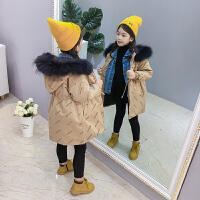 儿童棉衣2018新款加厚棉袄女孩收腰冬季外套中长款棉服