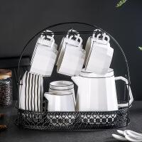 下午茶茶具套装陶瓷欧式小奢华茶壶奶壶英式手冲壶糖罐美式咖啡杯 15件