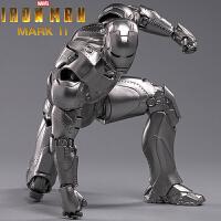 中动正品漫威钢铁侠马克MK2手办7寸人偶模型玩具格纳库复仇者联盟