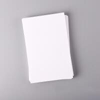 手绘空白明信片 白卡纸 卡纸 空白明信片橡皮章染卡手绘卡空白卡片 白卡 50张
