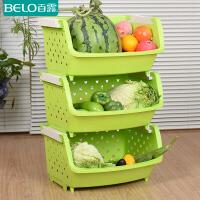 百露 厨房置物架 水果蔬菜置物架玩具收纳架 储物架单层整理架