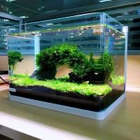 鱼缸免换水懒人生态鱼缸小型水族箱超白玻璃金鱼缸水草缸