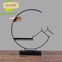 新中式摆件禅意摆铁工艺品软装饰品创意家居样板房间客厅电视柜SN0241