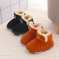 宝宝棉鞋1-3岁二女童冬季男2018新款靴子儿童毛毛鞋保暖