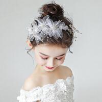 女童婚纱圣诞节公主花童饰品演出儿童发饰头花花环女童头饰发箍