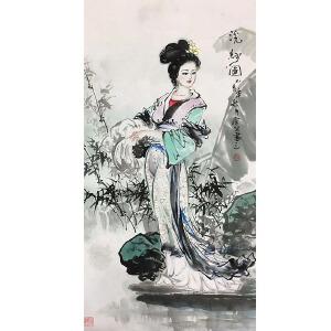 中美协会员,一级书画师常笑四大美女图(婉洗纱)36