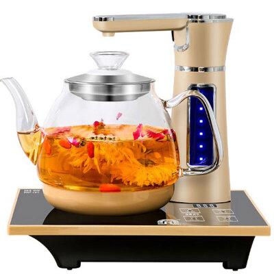 容声 全自动上水壶电热烧水壶家用电磁炉茶具抽水式保温一体茶台器 全自动旋转上水/可调上水量/加厚玻璃电热水壶