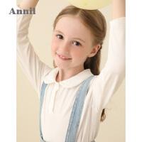 【活动价:119】安奈儿童装女童长袖T恤衫2020春季新款女宝儿童可爱翻领休闲上衣