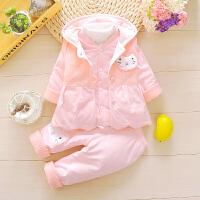 女宝宝女婴儿秋冬装衣服小孩冬季套装1岁半12个月潮