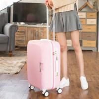 行李箱女拉杆箱小清新旅行箱20寸大学生密码箱万向轮24寸韩版26寸 粉(单箱) 20寸