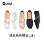 jm快乐玛丽单鞋夏季新款平底镂空透气休闲蕾丝布鞋帆布鞋女鞋
