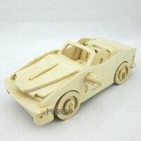 益智木质汽车内车饰品 创意摆件 手工diy拼装车上摆件模型小宝马