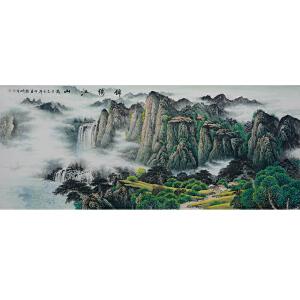 中国美协会员,中国书协会员,龙云书画院院长侯桂峰(锦绣江山)15