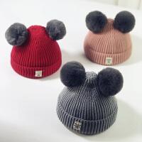 秋冬宝宝毛线帽子儿童2018新款女童婴儿1岁男童女孩3韩版潮针织帽