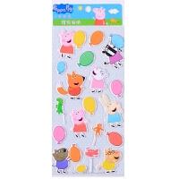小猪佩琪佩奇可爱卡通立体泡泡贴纸贴画儿童水晶贴新年2019年礼物