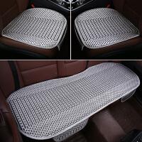汽车座垫夏季坐垫单片透气单座冰丝座垫通用无靠背车垫三件套凉垫
