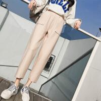 哈伦裤女九分裤春夏季新款韩版显瘦学生束脚裤香蕉裤子休闲裤