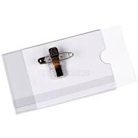 PVC透明胸卡套、含曲别针胸卡套、带铁夹子胸卡套、工作卡套