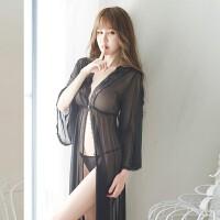 性感睡衣连体情趣内衣女制服诱惑睡裙开档露胸角色扮演蕾丝透明睡袍