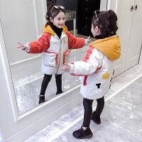 儿童棉衣2018新款冬季韩版棉袄中长款女孩外套加厚
