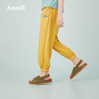 【活动价:99.5】安奈儿童装女童防蚊裤2020夏季新款中大童洋气休闲长裤子轻薄透气