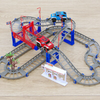 儿童玩具电动轨道车赛车跑道益智赛道拼装套装
