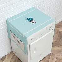 冰柜遮阳布小清新多肉植物盖布冰箱盖布防尘布床头柜盖布洗衣机盖布家用盖巾 140cm*55cm【双侧口袋】