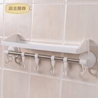 吸壁式卫生间厨房浴室置物架壁挂式毛巾架免打孔挂钩吸盘收纳架子SN8189