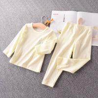 宝宝睡衣男女儿童纯棉网眼长袖长裤薄空调服防蚊家居服套装