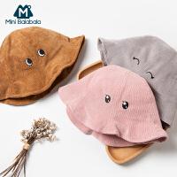 【限时1件6折 2件5.5折】迷你巴拉巴拉儿童帽子婴儿可爱渔夫帽遮阳帽2019秋季男女宝宝帽子