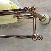 欧式仿古全铜浴室挂件毛巾架卫生间五金金色浴巾架