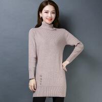 女装针织衫2019秋冬季新款高领毛衣女韩版套头长袖中长款针织打底衫百搭加厚