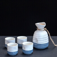 日式陶瓷清酒具黄酒杯家用烈酒一口杯半斤白酒壶暖酒器分酒壶套装