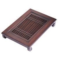 功夫茶竹茶盘中式家用小型竹制干泡茶台储水式长方形茶具托盘复古