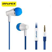 【正品包邮】Awei/用维 300i 入耳式耳机线控耳机 面条式耳机 金属耳机