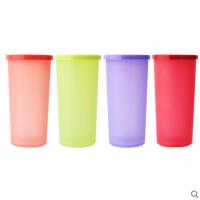 特百惠水杯 塑料防漏密封盖小矮人杯子迷你便携彩运水杯170ml