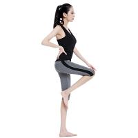 瑜伽服女套装健身房运动服休闲背心五分裤跑步跳操服夏装新款