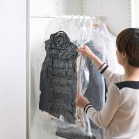 吸真空储物袋挂式透明羽绒服压缩袋抽空气真空袋小号装衣服衣物的收纳袋p 透明