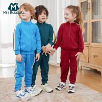 【618年中庆 2件4折价:120】迷你巴拉巴拉儿童套装运动服2020春秋装新款男童女童复古两件套潮
