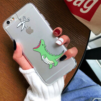 鳄鱼手机壳苹果6splus硅胶透明iphone7plus保护套卡通8x外壳动物