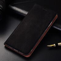 诺基亚7手机壳全包皮套Nokia7plus翻盖保护套诺基亚7手机套软牛仔 诺基亚7 牛仔纹黑色【翻盖】