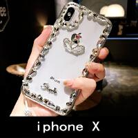 �W美奢�Aiphone8plus手�C��7P水�@��ぬO果X��水晶�炖K6s女款潮牌 �O果iphone X 水�@皇冠